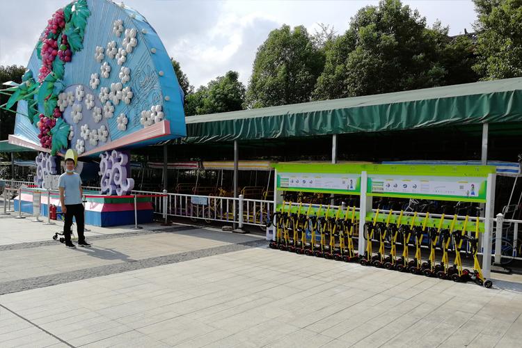 共享童车进驻武汉园博园