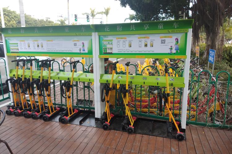 花粉共享童车进驻厦门环岛路