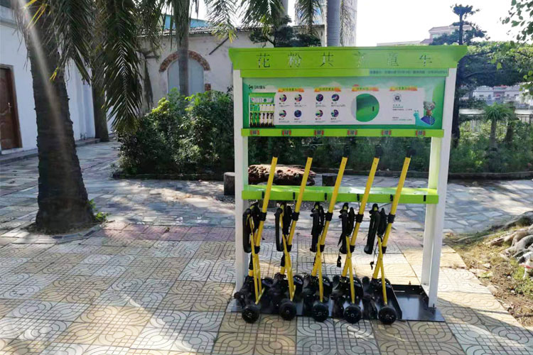 共享童车进驻汕头澄海区科隆千树园