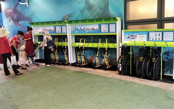 花粉共享童车、共享轮椅、共享婴儿车入驻海南恒大海花岛