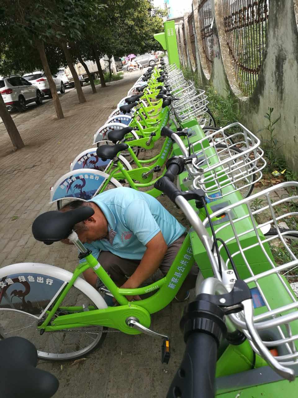 祝贺法瑞纳集团在河南新蔡市的又一公共自行车项目完工