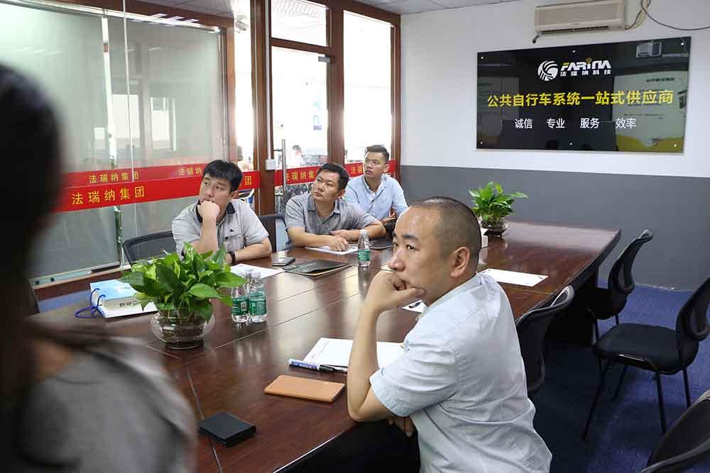 湖北共享单车客户来东莞公司总部进行实地参观考察